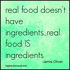 real food doesn't have ingredients