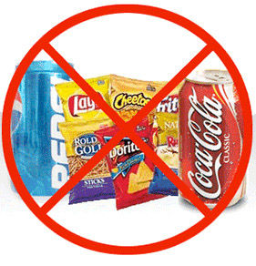 how to stop yourself from eating too much junk food
